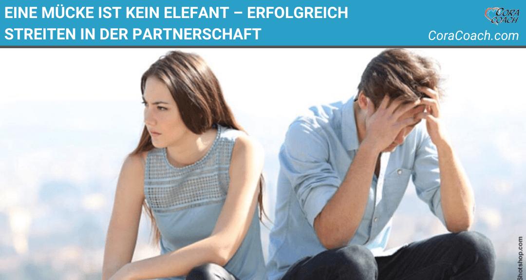 Eine Mücke ist kein Elefant – erfolgreich streiten in der Partnerschaft